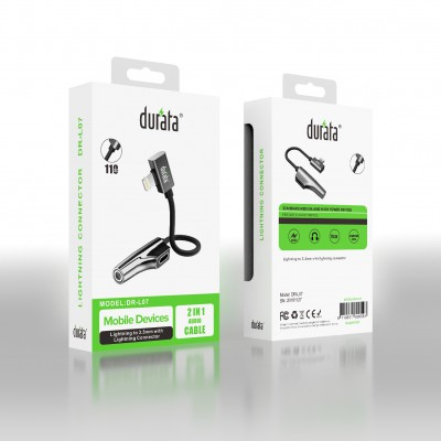 Durata 2-1 Charge + Audio Cable for Lightning DR-L07
