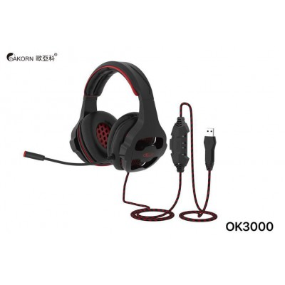 Gaming Headset Akorn OK3000 with microphone